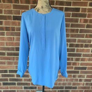 NWT NYDJ blue tunic length blouse